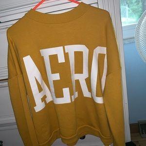 Heavy yellow Aeropostale sweater